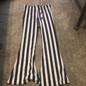 PrettyLittleThing Striped Flare Pants